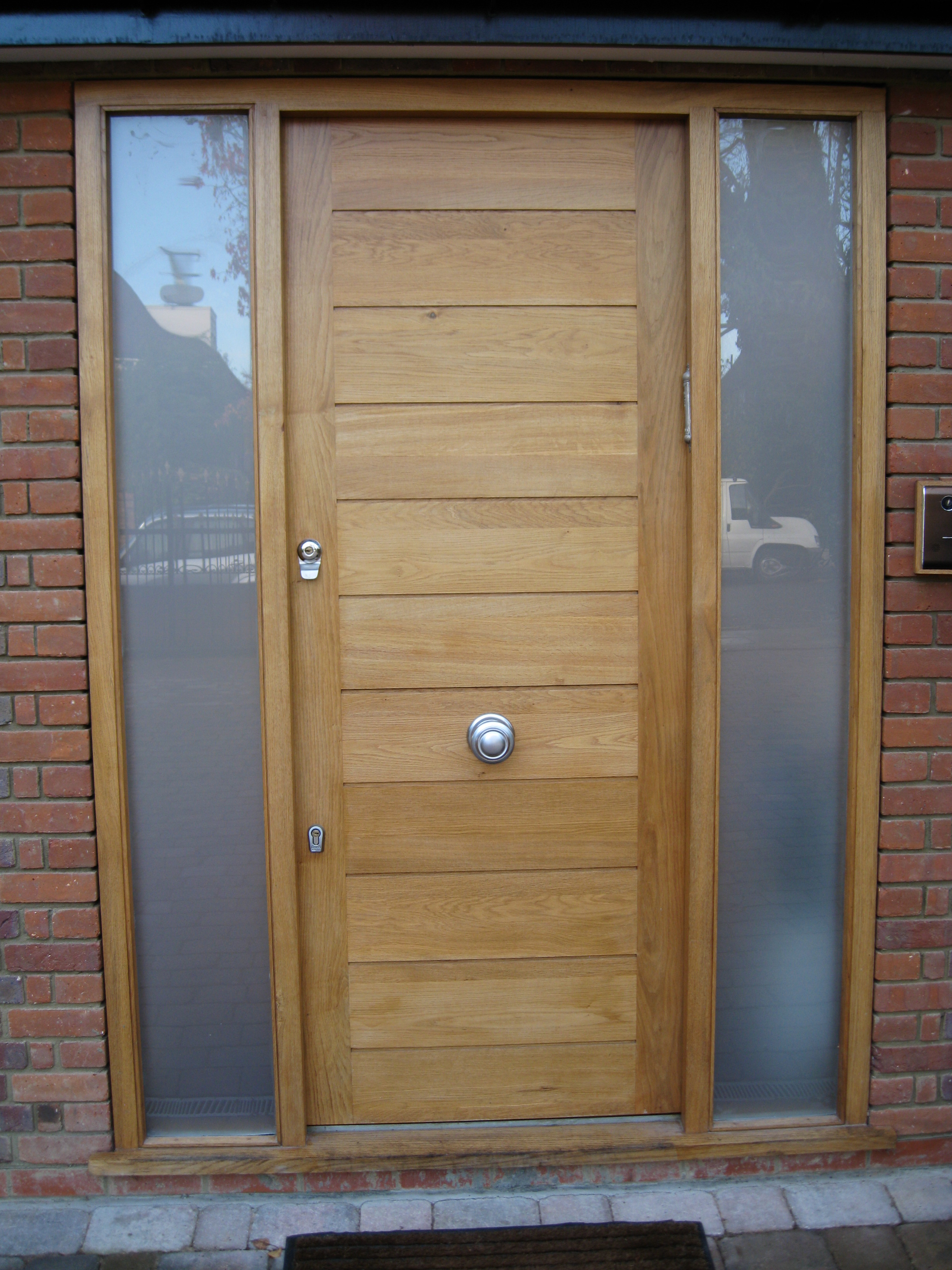 Oak Horizontal Panel Door